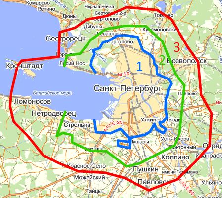 Карта СПб